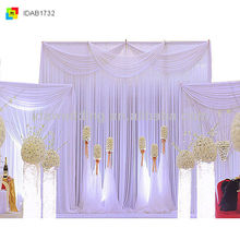 IDA High Quality lilac colour background Drapes Decorations for wedding and stage