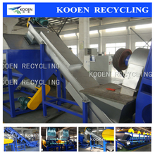 PP PE waste film woven bags washing garbage recycling equipment