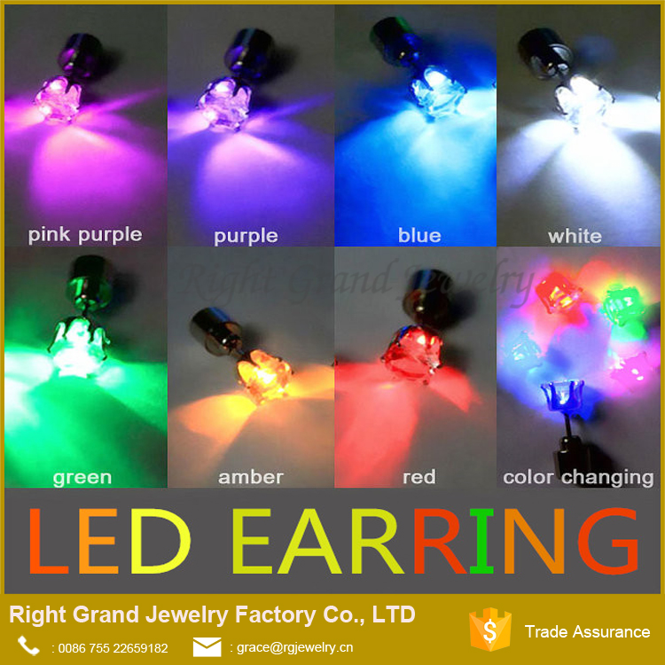 2017 Hot Fashion Earrings Crystal Light Up Earrings LED Earrings/Studs