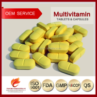 Vitamin Supplements OEM Multivitamins and Minerals Tablets