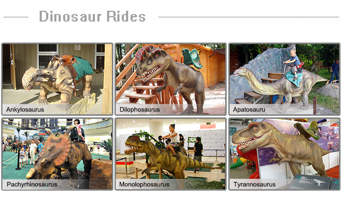 Outdoor Theme Park Coin Operated Animatronic Dinosaur Ride For Sale