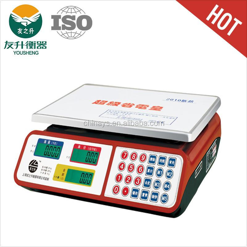 Red Color Stainless Iron 450g Flat Plate Electronic Balance.LCD Display,ABS Plastic Housing,24 Buttons Keypad,Counting Function