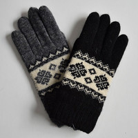 Cheap Knit Magic Gloves ,Ladies Jacquard Winter Knitted Gloves