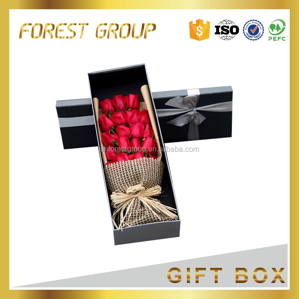 New Fashionable Coffin Shape Crystal Wedding Gift Flower Box