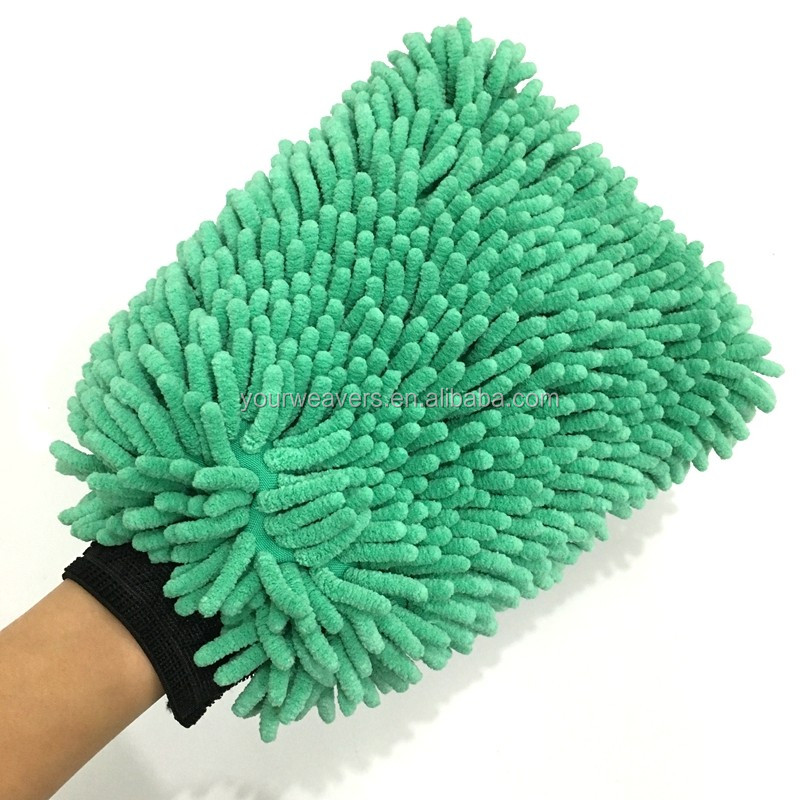 Single Side Premium Microfiber Chenille Cleaning Glove Car Wash Mitt