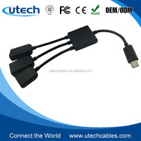 3 Port USB 2. 0 Micro USB Hub Adapter for Android