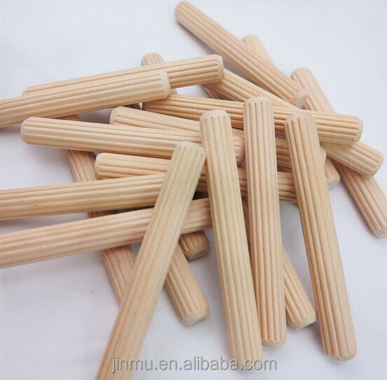 Hardwood Fluted Dowel Pins Wood Crafts Groove Dowel Pins