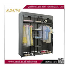 fabric wardrobe/ 2 door wardrobe/ bedroom sliding wardrobe design