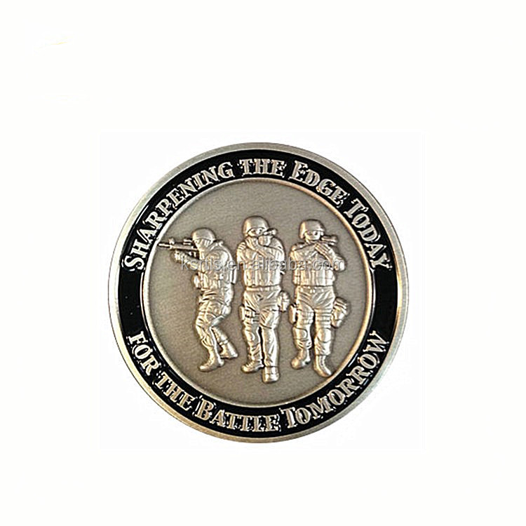 Soft enamel Die casting double side coin souvenir, custom for the battle tomorrow challenge coin