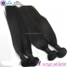 Top Quality Double Weft No Tangle No Shedding natural color mink brazilian hair extension