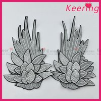 handmade applique flower embroidery pattern for wedding dress decoration