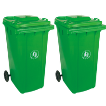 Street 120L 240L advertising trash bin for public