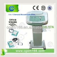 HOT!!! 3 function Diamond Microdermabrasion Ultrasonic Cold Hot skin care equipment with stand