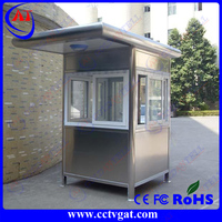 Easy and fast assembly Military Container Sentry Box,Prefab Coffee Kiosk Booth Design