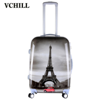 Paris Theme Print Hard Shell Travel Suitcase ABS Luggage