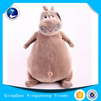 Customized cute grey hippo plush toy