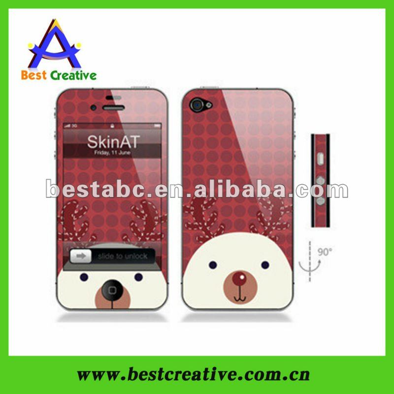 Red Deer Printing Front And Back Housing For Iphone 4