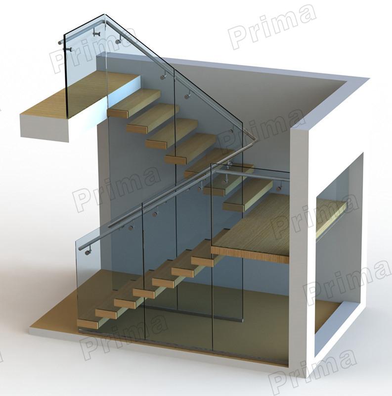 Interior Glass Railing Wood Stair Kit Cantilever Stairs Buy Glass Railing Wood Stair Modern