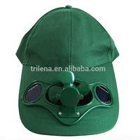 Fashion promotional baseball cap with solar fan custom baseball cap
