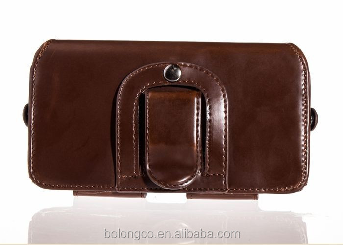 Classic style universal leather belt clip holster pouch case for samsung galaxy s6 edge plus wholesale