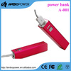 lipstick mobile battery power pack for smartphones
