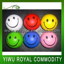 Wholesale 7.0CM PU Funny Smile Face Stress Reliever Ball