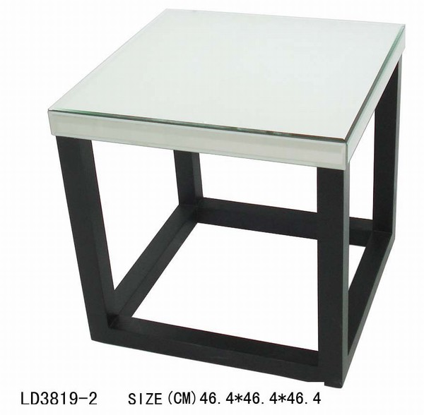 glass and chrome end tables mirror furniture