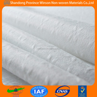 20%polyester spunlace non woven embossed fabric for wet towel china supplier