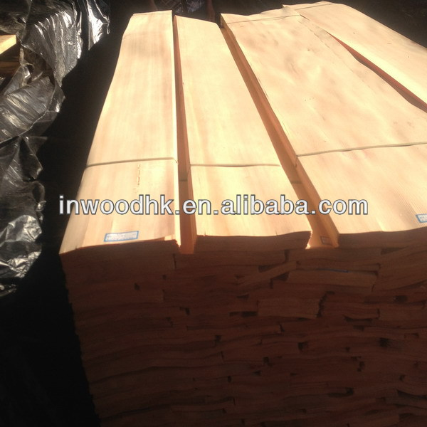 Sliced Natural China Fir Veneer for Interior Decoration