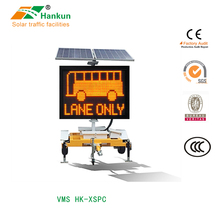 Outdoor Full Color Traffic Display Board Road LED Sign Mobile VMS Trailer