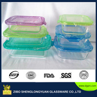 Microwave oven safe glass food storage container set with easy lid for home and kitchen
