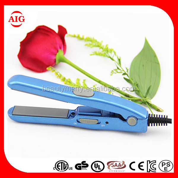 Mini cordless MCH flat iron High quality hair straighter electric irons Professional Hair Flat Irons