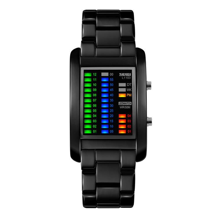 color fashion digital cool led light up wrist watches waterproof