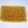 Stock Yellow Bright Beaded Trim Glass Beaded Fringes For Decoration
