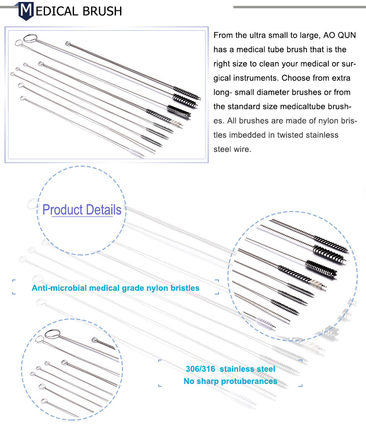 Medical Consumables Endoscope Medical Channel Cleaning Brushes for Endoscope