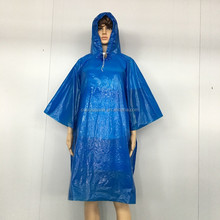 disposable PE plastic outdoor light poncho disposable rain coat poncho