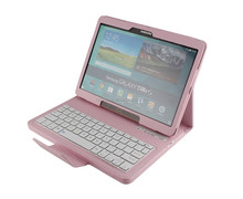 Litchi Pattern Removable Wireless bluetooth keyboard with high quality PU case for Samsung 10.5inch T800-SA108