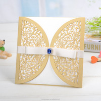 Newest Party favor free sample wedding invitation cards with laser cut cards/handmade love greeting card