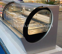 Wholesale oval ice cream display freezer