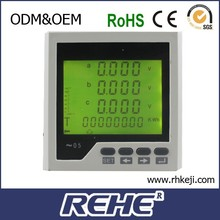 A V Hz P PF Cos kWh Measuring+Multi-rate multimeter 3 phase digital multifunction power meter