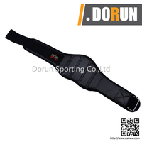 WEIGHT LIFTING BELT GYM BACK SUPPORT FITNESS NEOPRENE WIDE BLACK MEDIUM