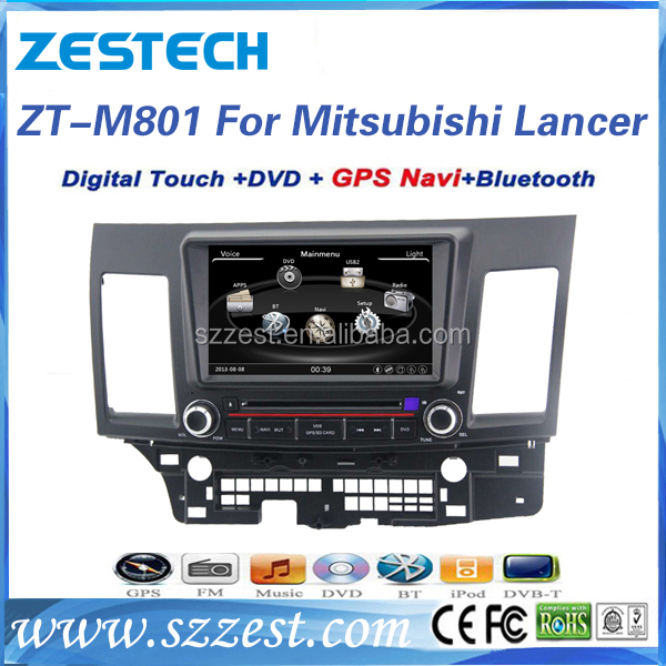 High quality touch screen car dvd for Mitsubishi Lancer touch screen car radio with radio fm BT phonebook SWC