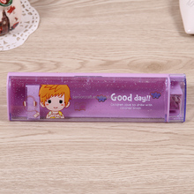factory direct sell OEM transparent plastic pencil case for school stationery