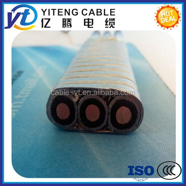 AWG standard ESP submersible pump cable EPDM Rubber insulation