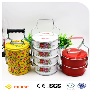 Singapore Malaysia Nonya Culture Tiffin Box Stainless Steel Lunch Box 3 Tiers 2 Tier Custom Design