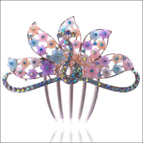 top selling products in alibaba kids hair bow african butterfly hair combs wholesale