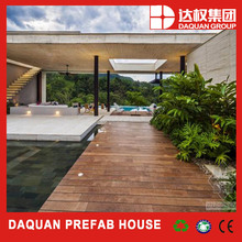 luxury prefab wood decoration house with low price