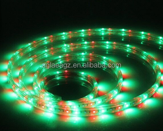 CE ROHS High lumence 2 years warranty CE ROHS 12mm Jump Color RGB chasing Colorful 220V 240V Anti-sulfuration SMD5050 led strip