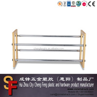 Chrome Expandable Shoe Rack For Short Bench