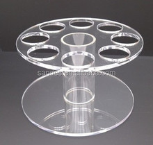 Double Circle Plates Design Plastic Ice Cream Cone Holders and Acrylic Pop Cake Stands